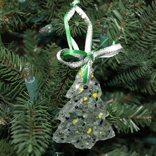 Sugar Cookie Inspired Glass Tree Ornament - Multi