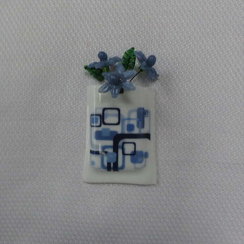Mini-Vase with Blue Abstract