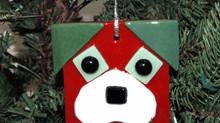 Glass Puppy Ornament
