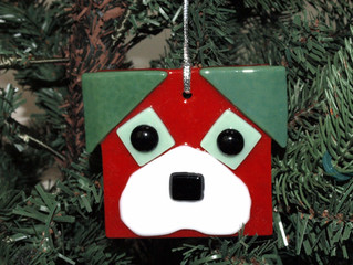 Glass Puppy Ornament