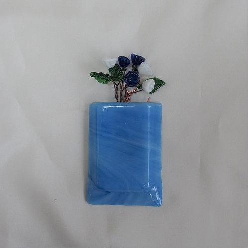 Mini-Vase with Blue Swirls