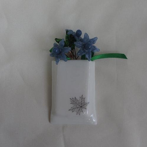 Mini-Vase with Maple Leaf