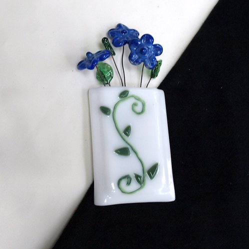 Magnetic / Wall Pocket Vase with Swirls