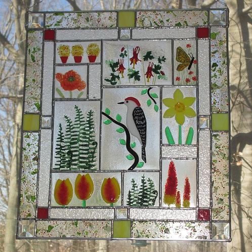 Woodpecker Botanical Panel