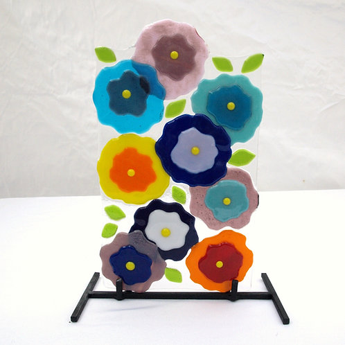 Abstract Flowers on Stand