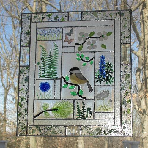 Chickadee Botanical Panel