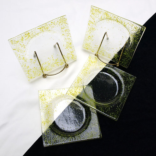 Yellow Speckled Coaster Set