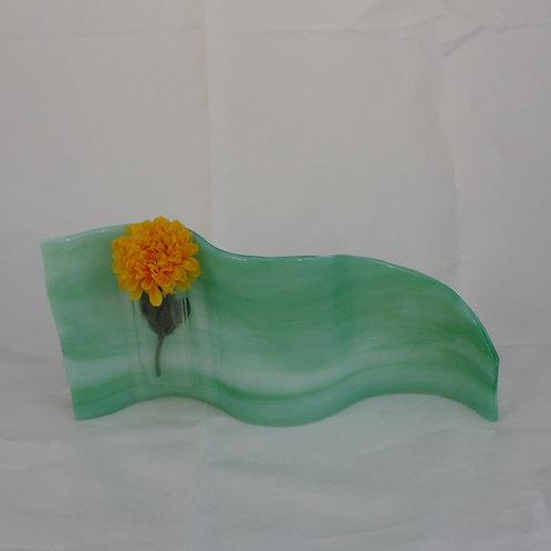Light Greens Wavy Vase