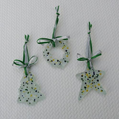 Sugar Cookie Inspired Glass Ornament Set - Multi