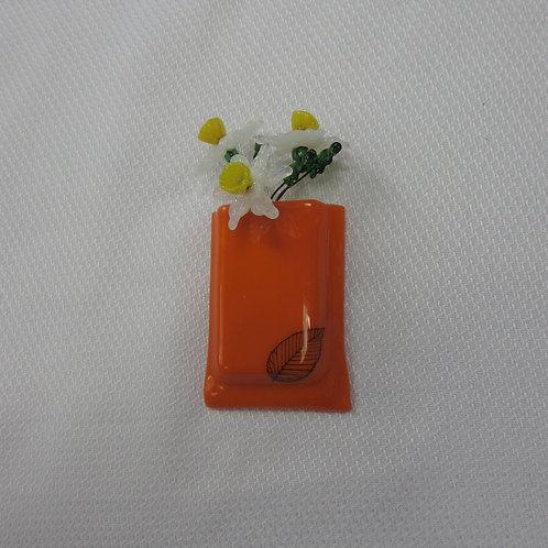 Mini-Vase with Leaf