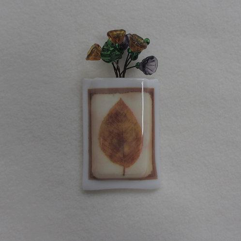 Mini-vase with Beech Leaf