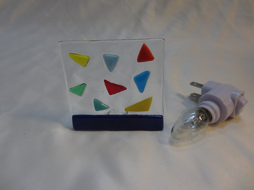 Mixed Colors Triangles Night Light