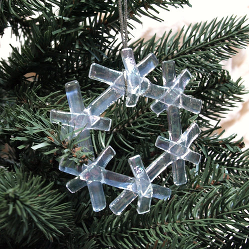 Iridescent Snowflake Ornament