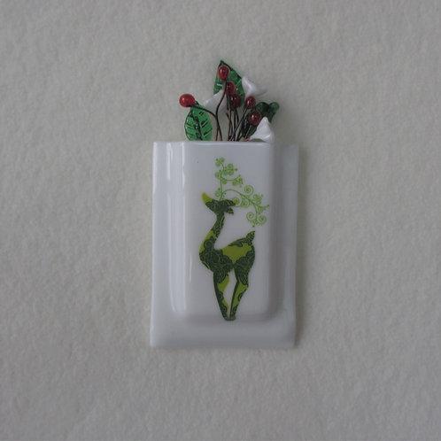 Green Reindeer Mini-vase