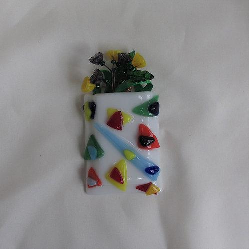 Mini-Vase with Multi-Colored Triangles