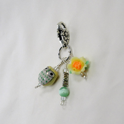 Yellow Owl and Flower Dangle