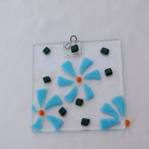 Turquoise Flower Suncatcher