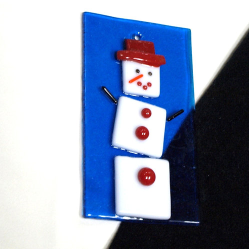 Snowman with Red Hat and Buttons