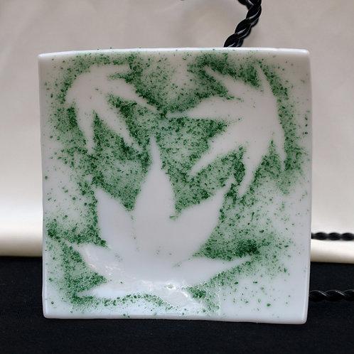 Adventurine Green Japanese Maple Leaf Trinket Plate