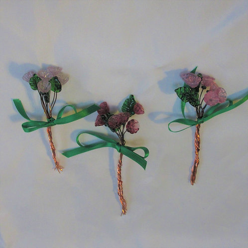 Mini-Bouquets in Pinks