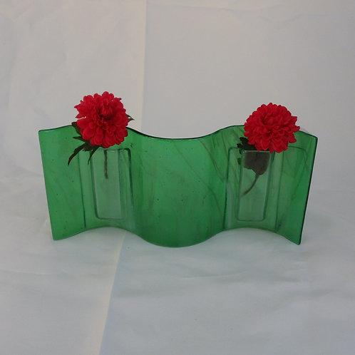True Green Wavy Vase
