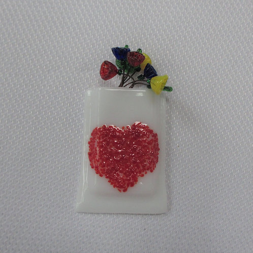 Mini-vase with Heart