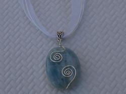 Blue Beryl Aquamarine Necklace