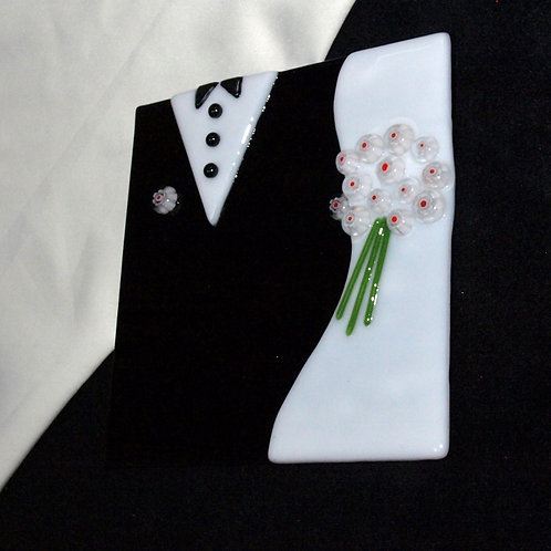 Wedding Plate - White with Red Center