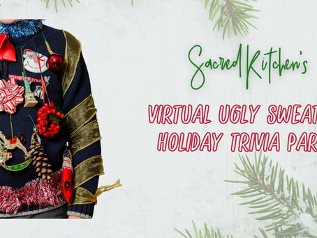 The Virtual Ugly Sweater Holiday Trivia Party (Yes, there is some Cookie Decorating)