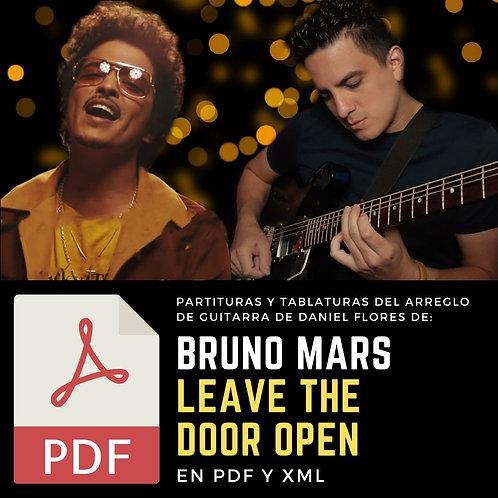 TABS de LEAVE THE DOOR OPEN (Arreglo de Guitarra de Daniel Flores)