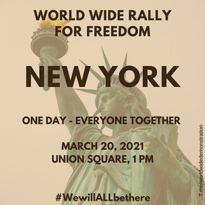 New York World Wide Rally For Freedom