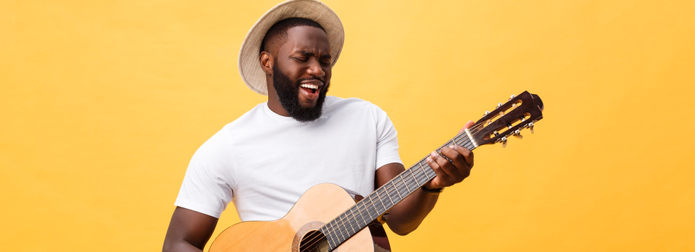 african-american-retro-styled-guitarist-