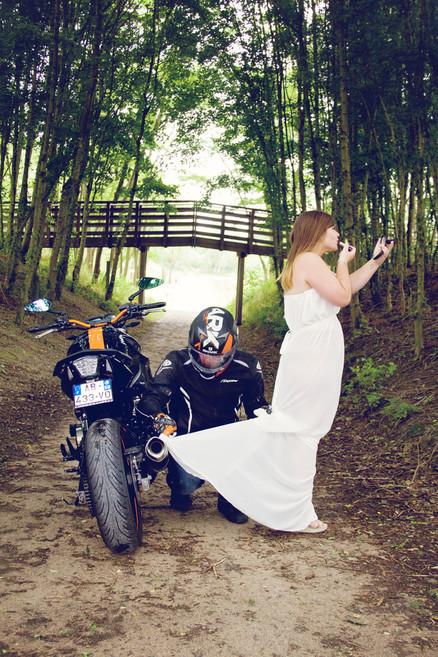 portrait couple moto photographe valenciennes