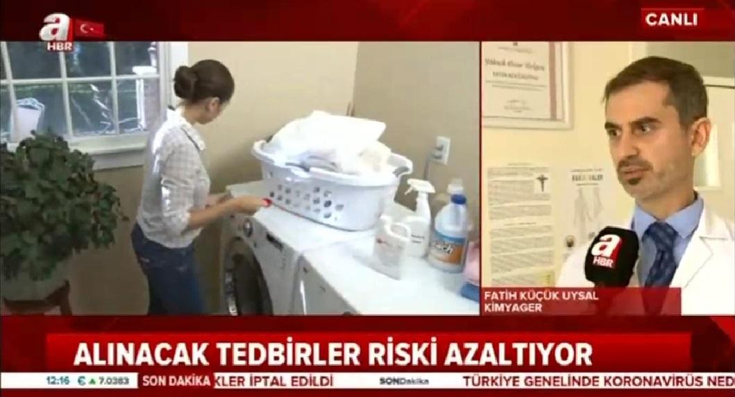 A Haber TV'de Çamaşır Suyu Kullanımı hk Röportaj