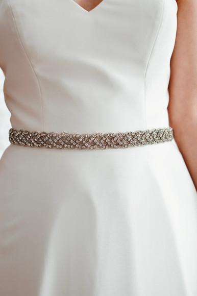 Plaited diamante bridal belt 'PBB1019'