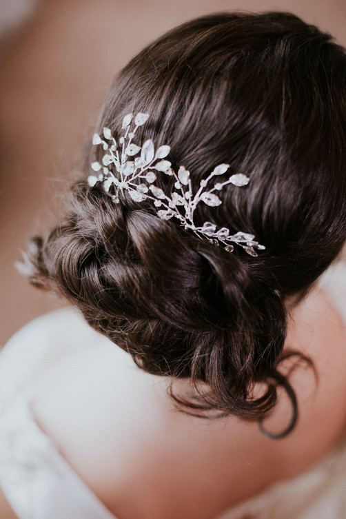 crystal hair pin for brides