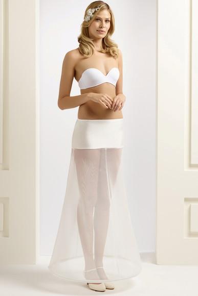 H2-190 narrow A-line bridal underskirt