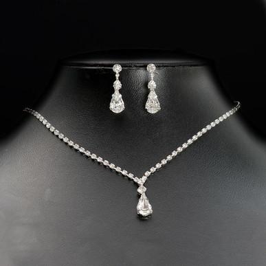 teardrop bridal jewellery set