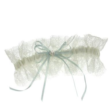 Soft lace wedding garter
