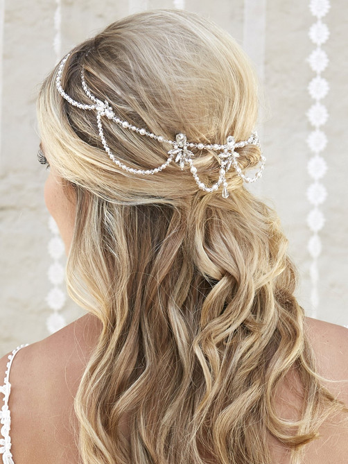 bridal hair accessory crown halo