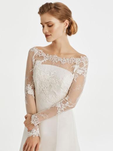 Guipure lace bridal jacket