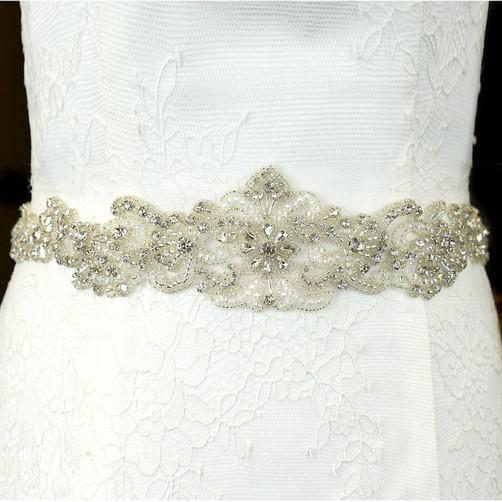 crystal lace bridal belt