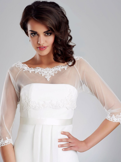 lace and tulle bridal cover up