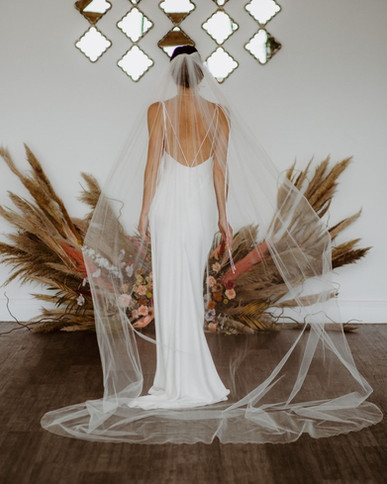 Long floaty cathedral veil 'Jessica'