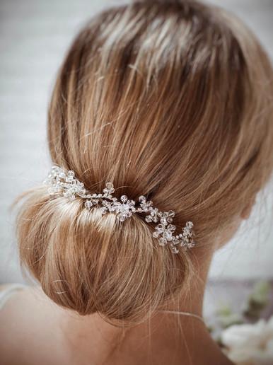 Silver crystal hair vine 'Twilight'