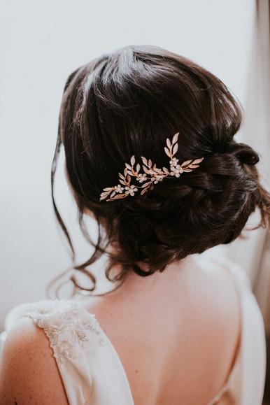 Gold bridal hair pin 'HP4650'