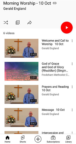 Sunday Morning Worship 10th October