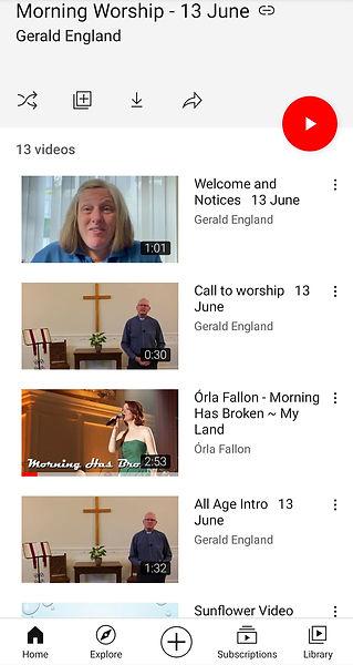 Morning Worship 13th June