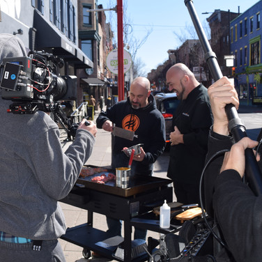 Filming in Philly