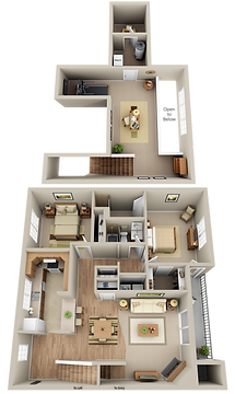 Hunters Glen Bi Level 2 Bedroom 2 Bathroom